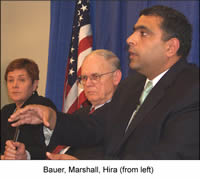 Bauer, Marshall, Hira (from left)