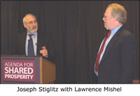 Joseph Stiglitz with Lawrence Mishel